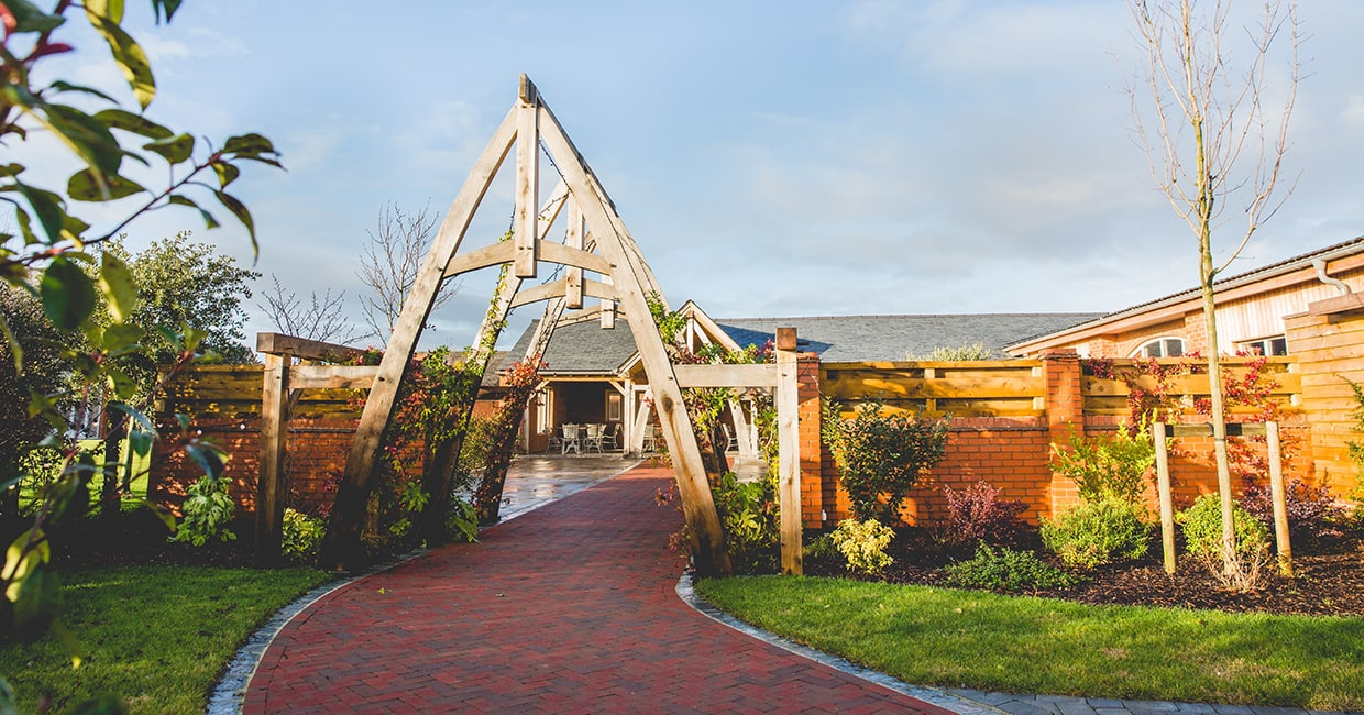 Entrance arch to the Wedding barn