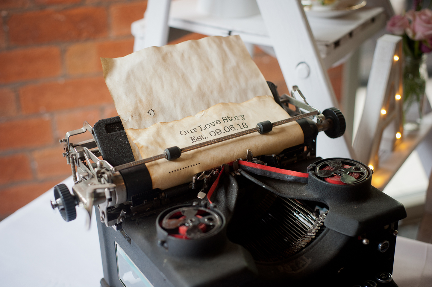 A Love story… writtne on a typewriter